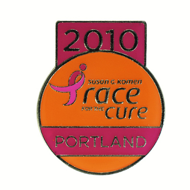 Susan G. Komen Portland Race for the Cure Die Struck Iron Lapel Pin Lasting Impressions