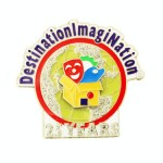 Destination Imagination 25 Year custom lapel pin created by Lasting Impressions