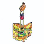 Ohio Destination Imagination Guitar slider lapel pin created by Lasting Impressions