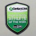 CenturyLink Athlete of the Week patch from Lasting Impressions