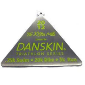 Custom Medal for Danskin Triathalon photo by Lasting Impressions Pins