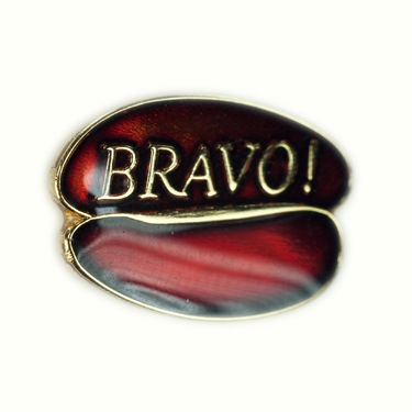 Custom recognition lapel pin Starbucks Coffee Company Bravo Bean Pin Lasting Impressions